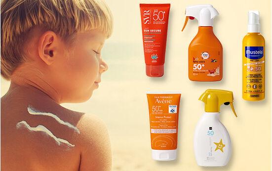 Test - Crèmes solaires pour enfants