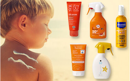 Test crèmes solaires pour enfants