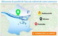 Carte interactive de la qualité de l'eau