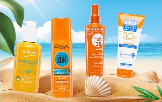 Test crèmes solaires – Les plus efficaces et les moins polluantes