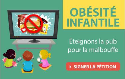Pétition Obésité infantile