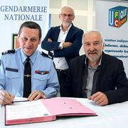 PartenariatGendarmes et bénévolesensemble contre les arnaques