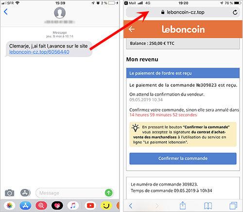 SMS - www.leboncoin-cz