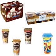 Boissons et desserts lactés Nestlé, Carrefour et CasinoContamination au peroxyde d'hydrogène