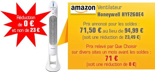 Ventilateur vendu sur Amazon