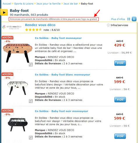 comparateur de prix n assume pas sa pub actualit ufc que choisir. Black Bedroom Furniture Sets. Home Design Ideas