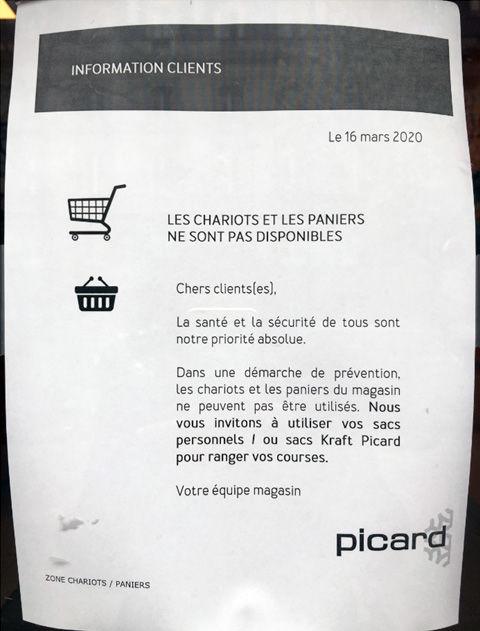 visuel affichette magasin picard