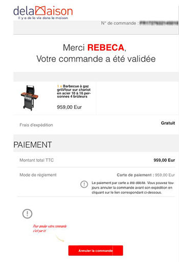 Phishing Delamaison.fr