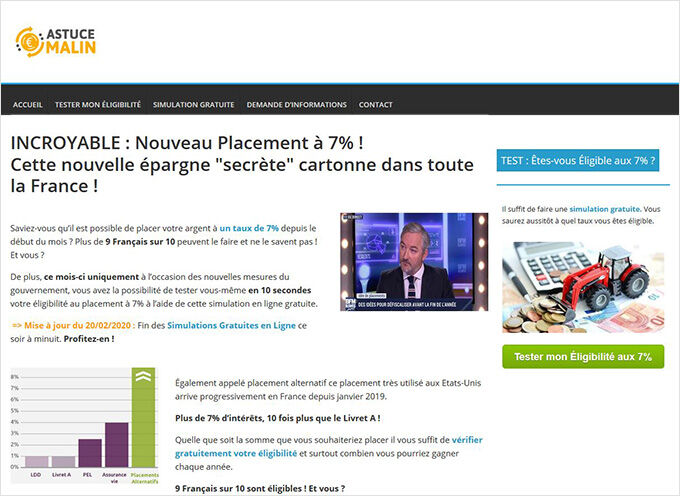Le site Epargnemalinfrance.com, dénoncé par l'ACPR, délivre des informations alléchantes mais très floues, et surtout totalement fausses !
