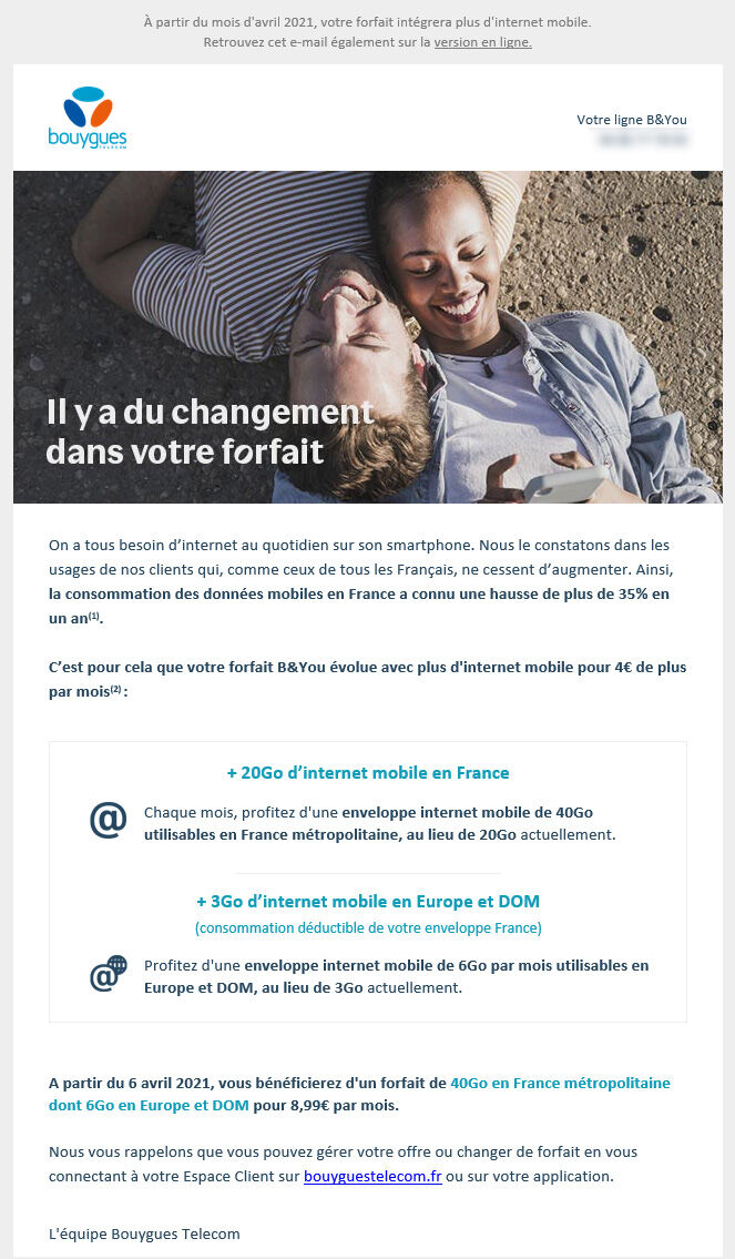 visuel email hausse tarif bouygues telecom
