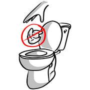 Lingettes désinfectantesÀ jeter dans la poubelle, pas dans les toilettes !
