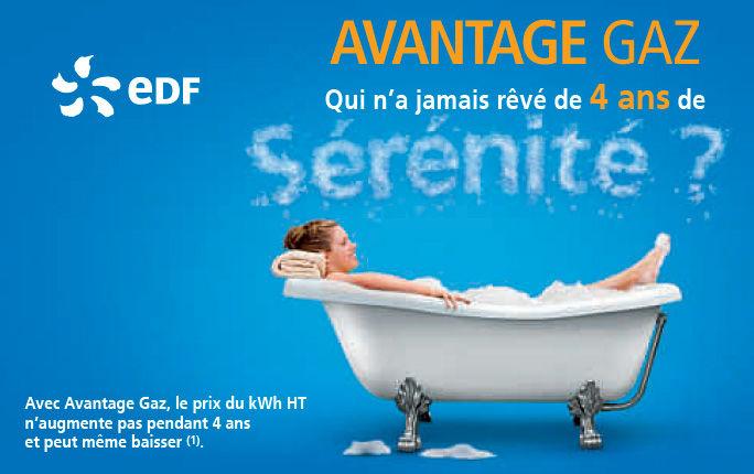 Nouvelle offre Avantage gaz d'EDF - Une publicité ...