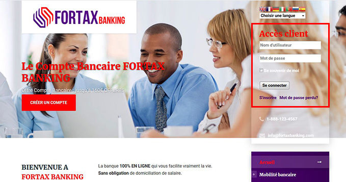 Exemple faux site ACPR