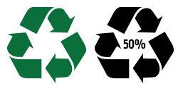 Moebius ribbon waste recycling visual