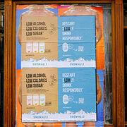 Soda alcoolisé Snowmelt - Des affichages sauvages pour s'affranchir de la loi