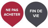 Logos « Fin de vie » et « Ne pas acheter »