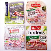 Nitrites et nitrates dans les lardonsAu choix, arôme ou nitrite