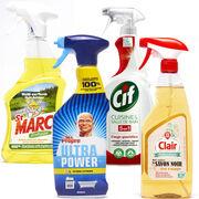 Nettoyants ménagers en spray