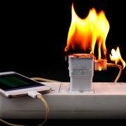 Chargeurs de smartphonesRisque d'incendie et de choc électrique