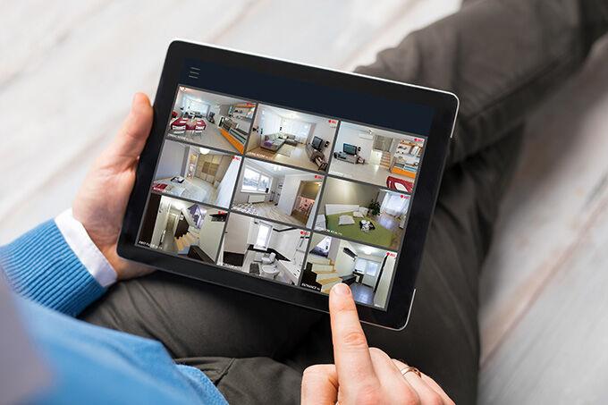 surveillance par caméra visu6 tablette