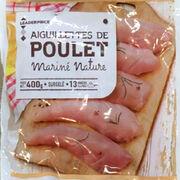 Aiguillettes de poulet mariné nature Leader Price