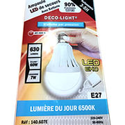 Ampoule LED de secours avec batterie Deco-Light