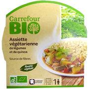 Assiette végétarienne de légumes et de quinoa Carrefour bio