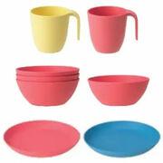 Assiettes, bols et mugs Heroisk et Talrika Ikea