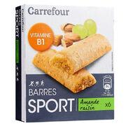 Barres sport amande raisin Carrefour