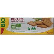 Biscuits épeautre et sésame Auchan bio