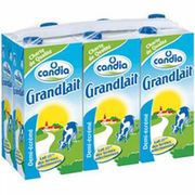 Briques de lait Viva et Grandlait de Candia