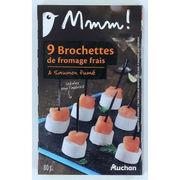 Brochettes de fromage frais et saumon fumé Mmm Auchan