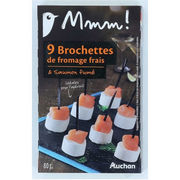 Brochettes de fromage frais & saumon fumé Auchan Mmm