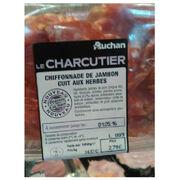 Chiffonnade de jambon cuit aux herbes Auchan Le Charcutier