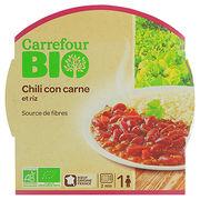 Chili con carne et riz Carrefour Bio