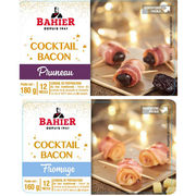 Cocktail bacon pruneau et Cocktail bacon fromage Bahier