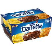 Danette Panaché (saveur vanille, chocolat, caramel)