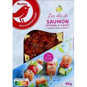 Dés de saumon fumé sésame et pavot Auchan