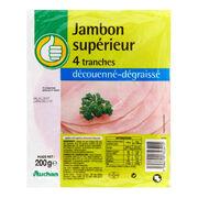 Jambon cuit découenné dégraissé Auchan
