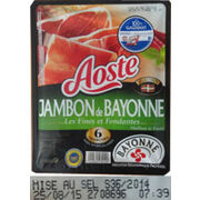 """Jambon de Bayonne Aoste """"Les fines et fondantes"""""""