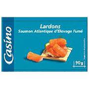 Lardons de saumon d'élevage fumé Atlantique Casino