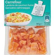 Lardons de saumon fumé Atlantique Carrefour