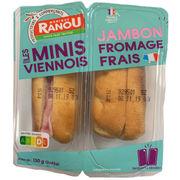 Les minis viennois jambon fromage frais Monique Ranou