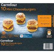 Mini cheeseburgers surgelés Carrefour