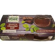 Mousse au chocolat noir Carrefour veggie
