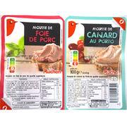 Mousse de foie de porc et Mousse de canard au Porto Auchan