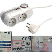 Multiprise 4 x 16A + 2 USB Leroy Merlin