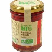 Poivrons Piquillo entiers Carrefour Bio