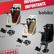 Porte-bébé fixation avant Mini Exclusive Bobike