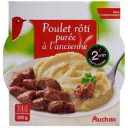Poulet rôti purée à l'ancienne Auchan